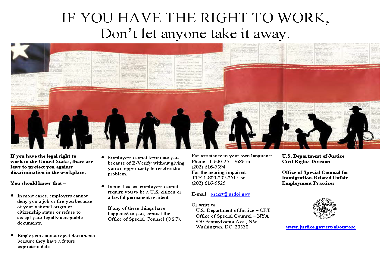 Right to Work Web Poster - English